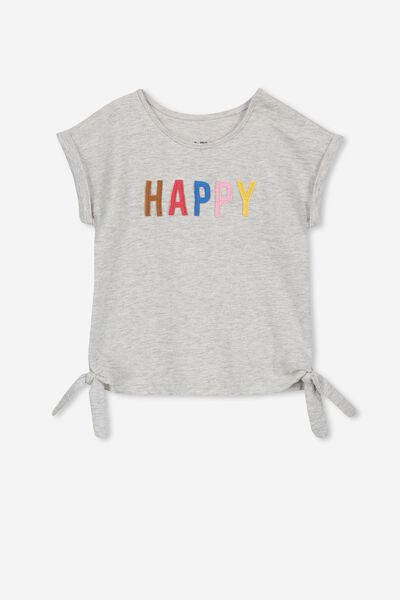 Ginger Ss Tee, CLOUD MARLE/HAPPY