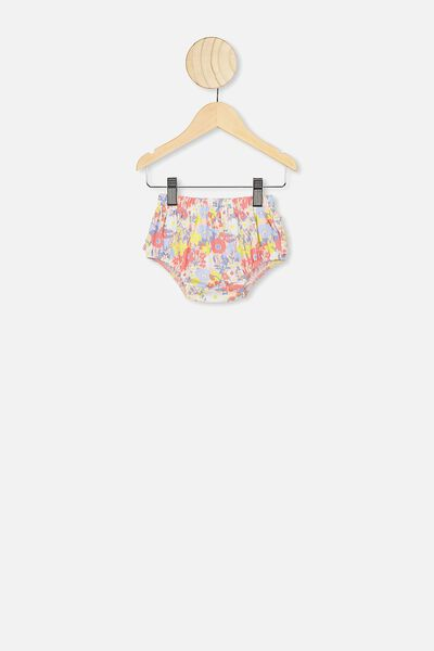 Stella Ruffle Bloomers, PASTEL PEACH/MEADOW FLORAL