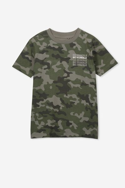 Max Skater Short Sleeve Tee, CAMO BE HUMBLE