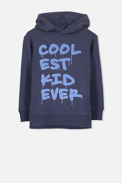 Liam Hoodie, WASHED NAVY/COOLEST KID