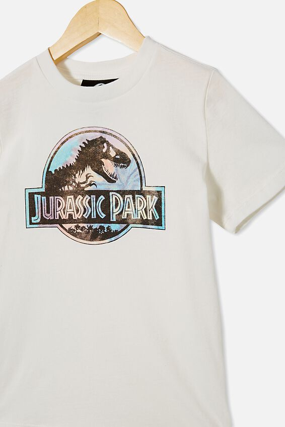 Co-Lab Short Sleeve Tee, LCN UNI RETRO WHITE / JURASSIC PARK RAINBOW L