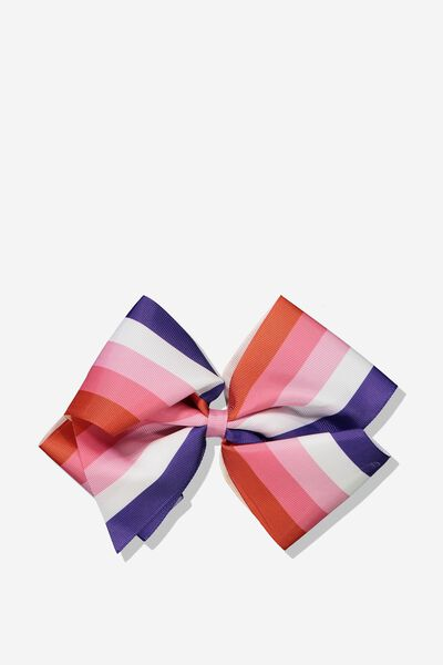 Statement Bows, VANILLA/PRINTED STRIPES
