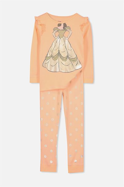 Alicia Long Sleeve Girls PJ Set, I AM BELLE