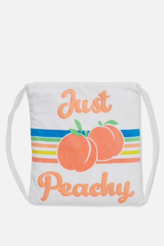 Personalised Just Peachy Towel In a Bag, JUST PEACHY PERSONALISED