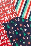 Kids Gift Wrap 3Pack, MERRY HAPPY