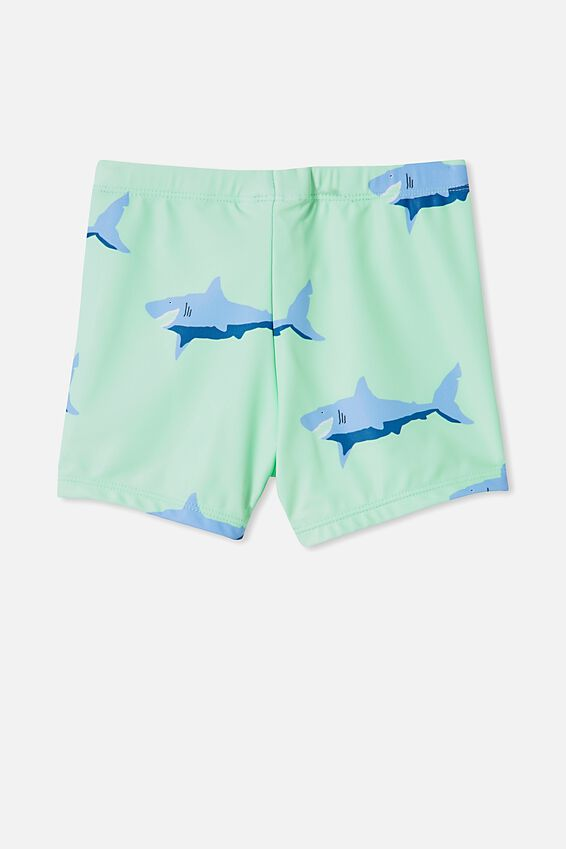 Billy Boyleg Swim Trunk, WASHED SPEARMINT/SHARK