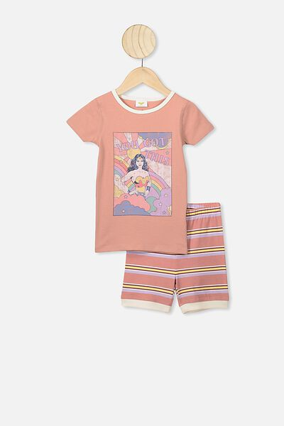 Nikki Short Sleeve Pajama Set, LCN WB CLAY PIGEON/WW YOU GOT THIS