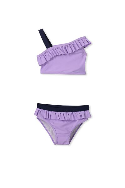 Adrienne Bikini, LAVENDER/PEACOAT FRILL