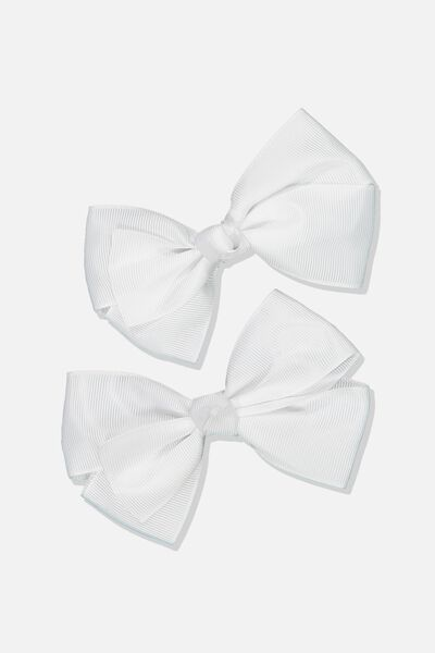 Big Bow Clips, VANILLA 2PK