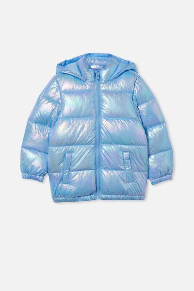 Frankie Puffer Jacket, BLUE METALLIC