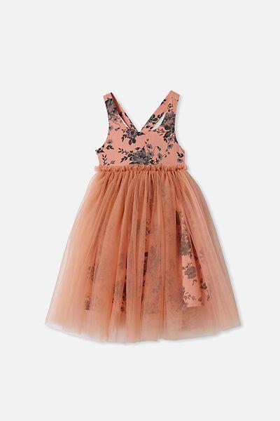 Izzy Dress Up Dress, BRICK DUST/FLORAL