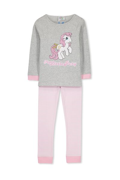 Kristen Long Sleeve Girls PJs, I HEART MY LITTLE PONY