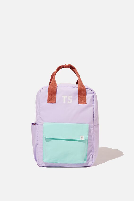 Back To School Backpack - Personalised, PALE VIOLET/BLUE