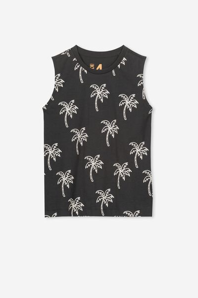 Orson Tank, GRAPHITE/WHITE PALM TREES MUSCLE