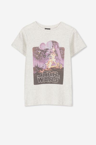 Lux Short Sleeve Tee, LSN LU SUMMER GREY MARLE/STAR WARS SCENE/MAX