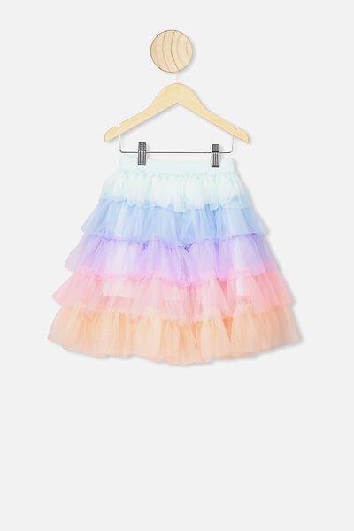 Trixiebelle Tulle Skirt, SEAGLASS RAINBOW/TIERED MIDI
