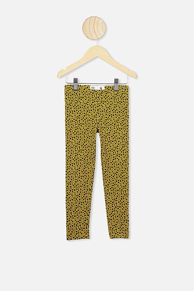 Huggie Tights, KEEN AS MUSTARD/FLORAL ANIMAL