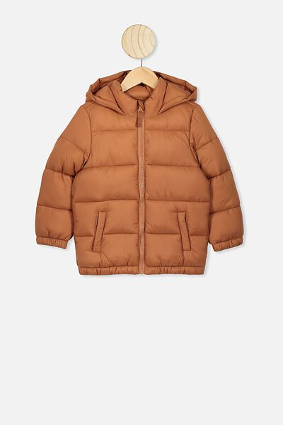 Frankie Puffer Jacket, AMBER BROWN