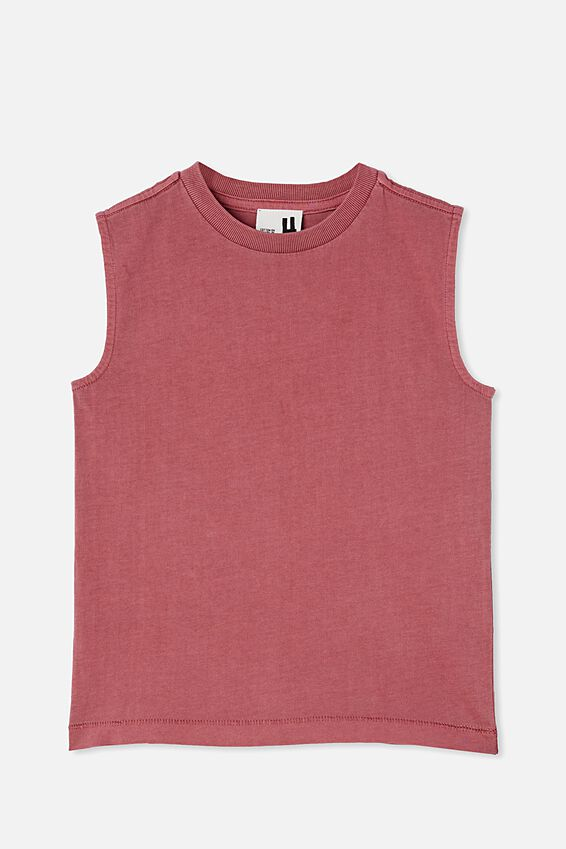 Otis Muscle Tank Wash, VINTAGE BERRY GARMENT DYE