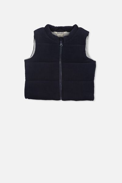 Courtney Puffer Vest, INDIAN INK