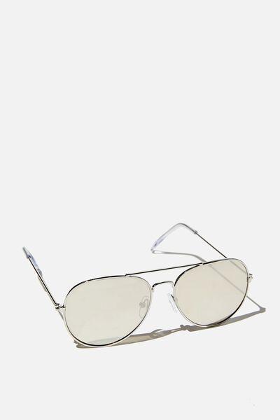 Pilot Sunglasses, PILOT SILVER