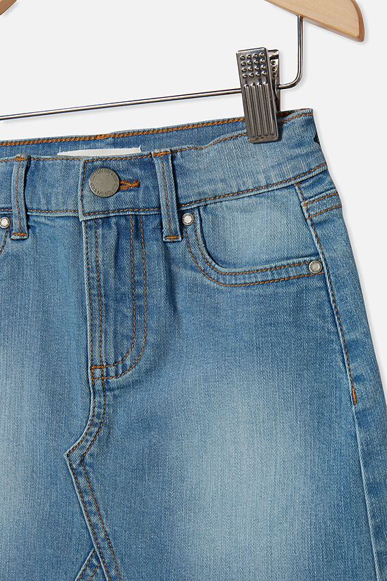 Finn Denim Skirt, BLEACH WASH
