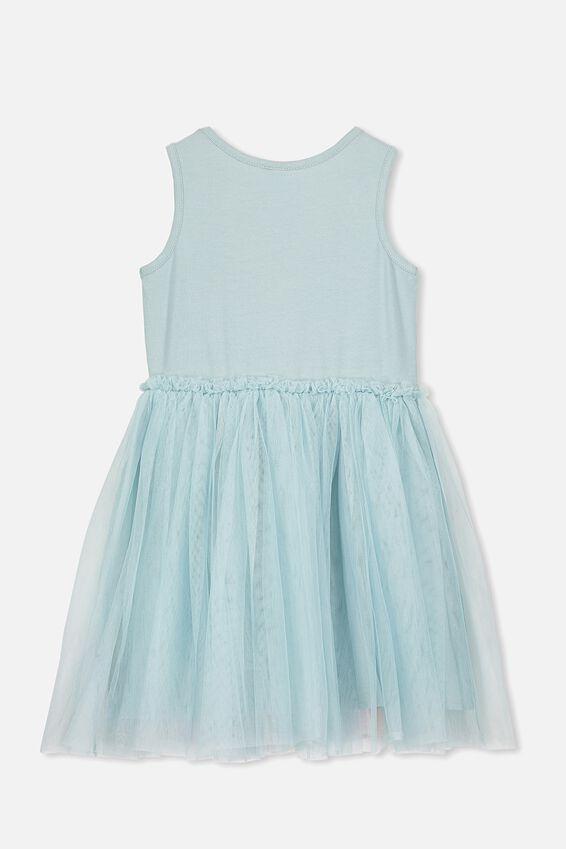 Iris Tulle Dress, ETHER/RAINBOW HORIZON