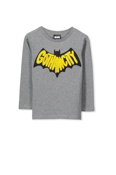 Licence Long Sleeve Tee, HAZE MARLE/GOTHAM CITY