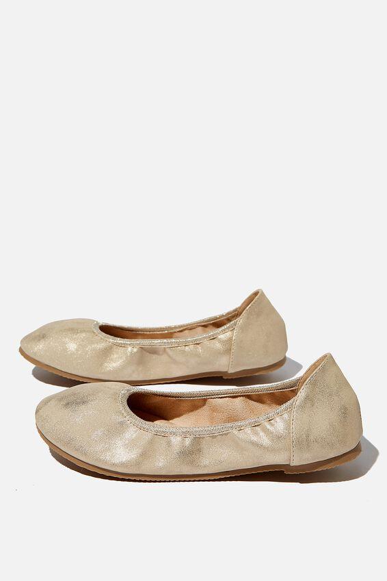 Primo Ballet Flat, MATTE GOLD SHIMMER