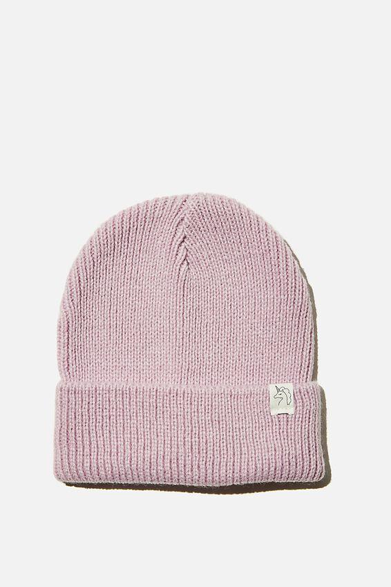 Winter Knit Beanie, PALE VIOLET