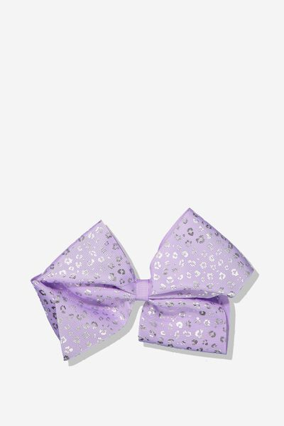 Statement Bows, PURPLE/SILVER ANIMAL