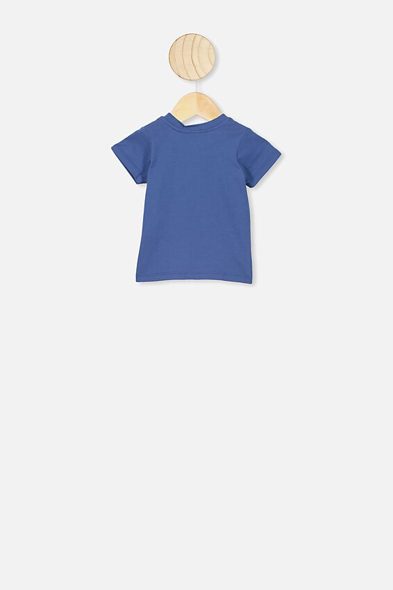 Jamie Short Sleeve Tee, LCN PRO PETTY BLUE/METALLICA