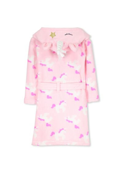 Girls Hooded Gown, STAR DUST THE UNICORN