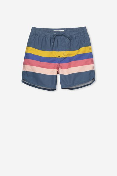 Murphy Swim Short, WASHED STEEL/RETRO PLACEMENT STRIPES