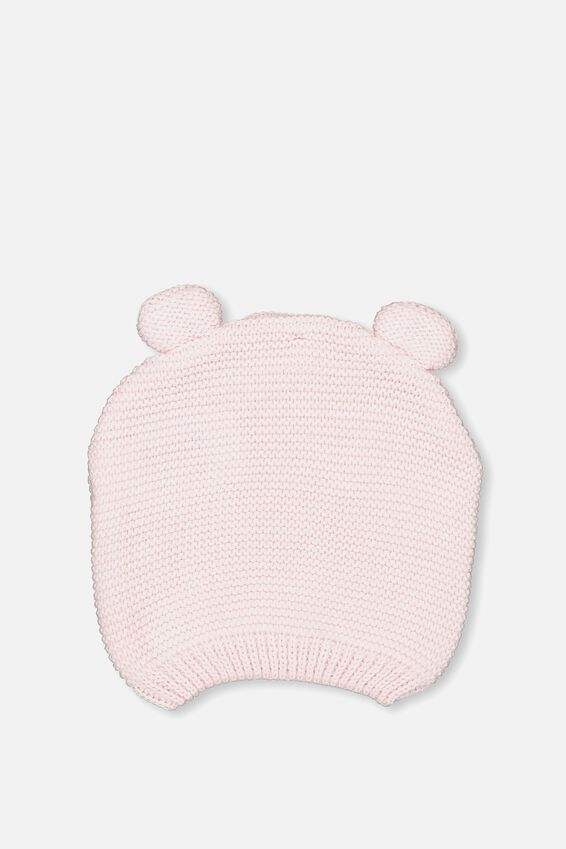 Baby Knit Beanie, BCI PALE PINK