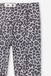 Huggie Tights, LIGHT GREY MARLE/ANIMAL