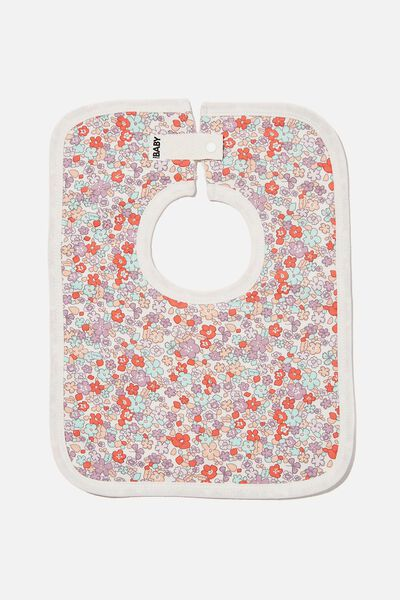 The Square Bib, VANILLA/GARDEN FLORAL