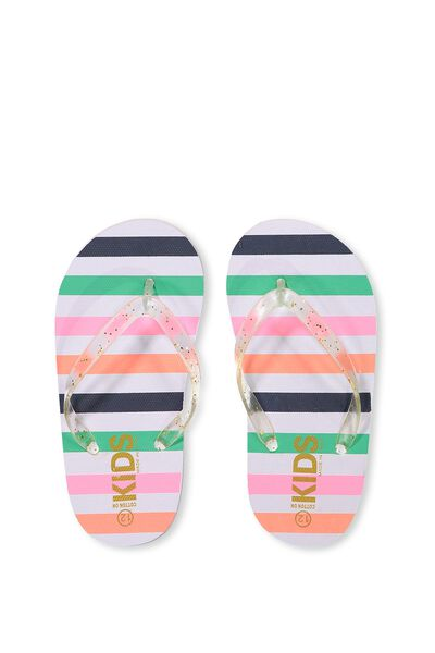 Printed Flip Flop, 91 RETRO MULTI STRIPE G