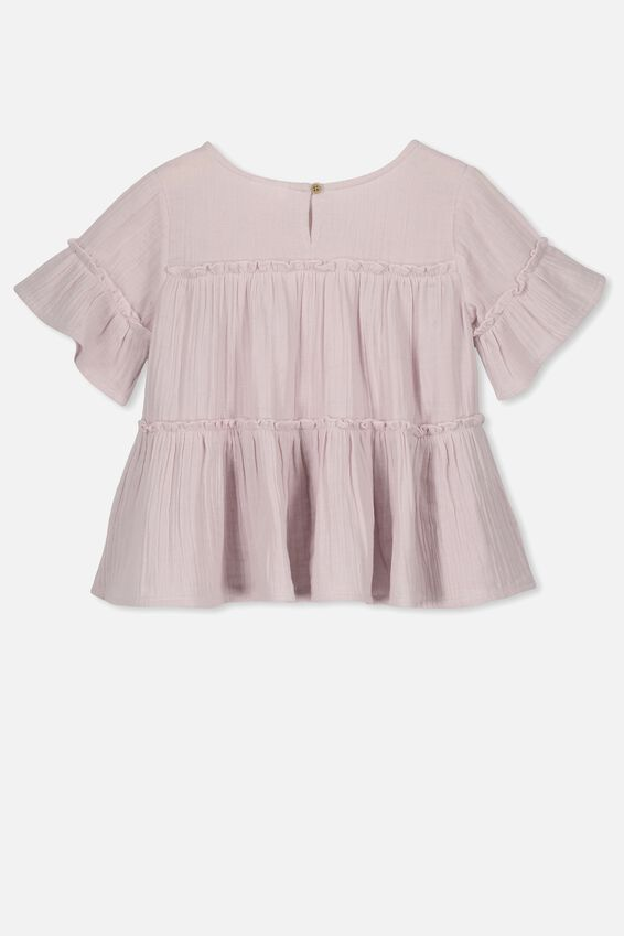 Frida Frill Top, ORCHID HUSH