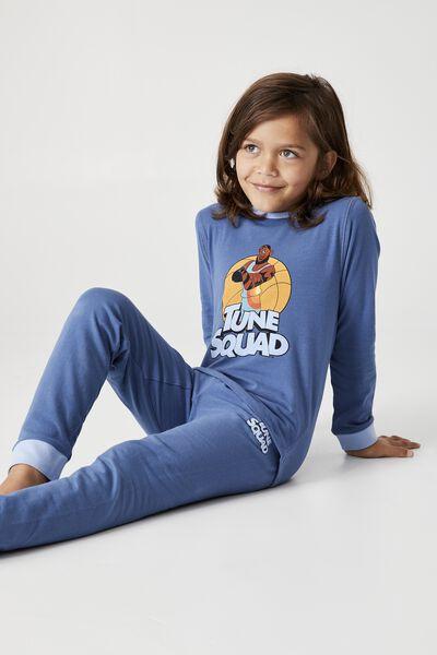 Orlando Long Sleeve Pyjama Set Licensed, LCN WB TUNE SQUAD LEBRON PETTY BLUE