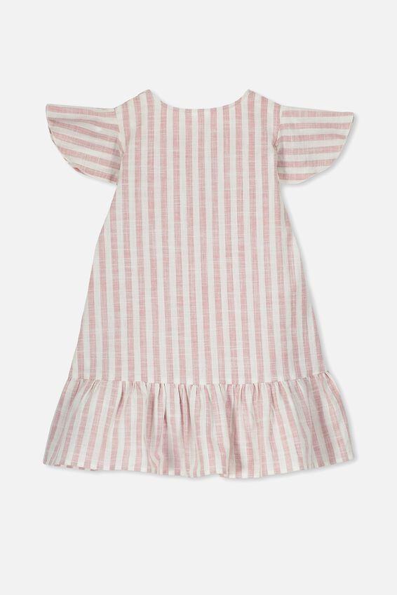 Lola Short Sleeve Dress, RUSTY BLUSH STRIPE