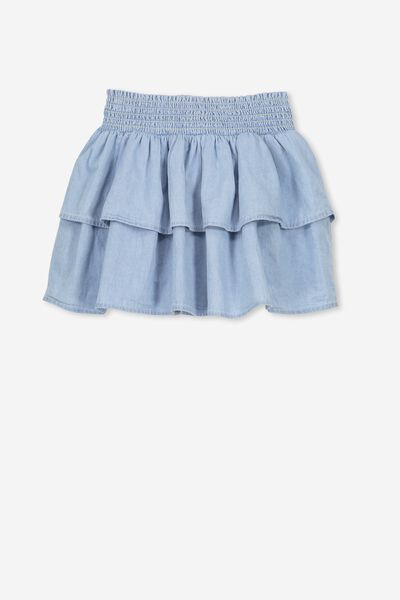 Gracie Skirt, LIGHT CHAMBRAY