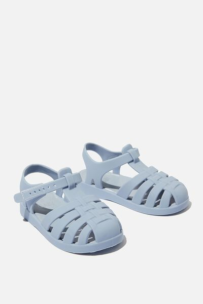 Mini Amalfi Jelly Sandal, DUSTY BLUE