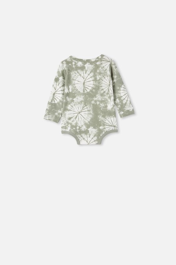 The Long Sleeve Bubbysuit, SILVER SAGE TIE DYE