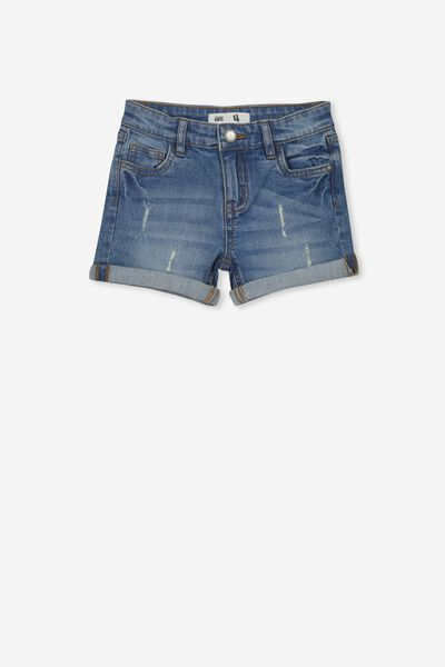 Camilla Denim Short, MID WASH 2