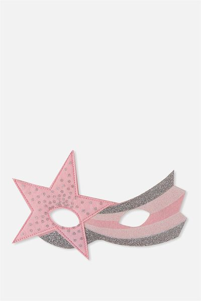 Glitzy Fun Mask, PASTEL SHOOTING STAR