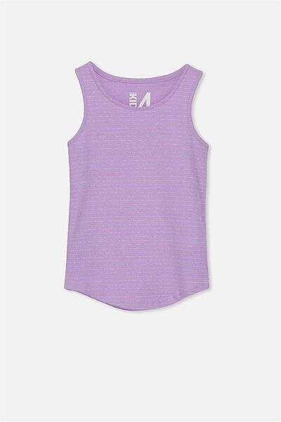 Brooke Singlet, LILAC BREEZE/SILVER