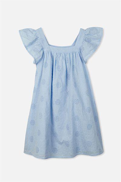 Pollyanna Dress, BUTTERFLY BLUE/BRODERIE