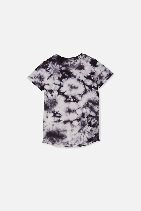 The Cruz Short Sleeve Long Line Tee, PHANTOM TIE DYE