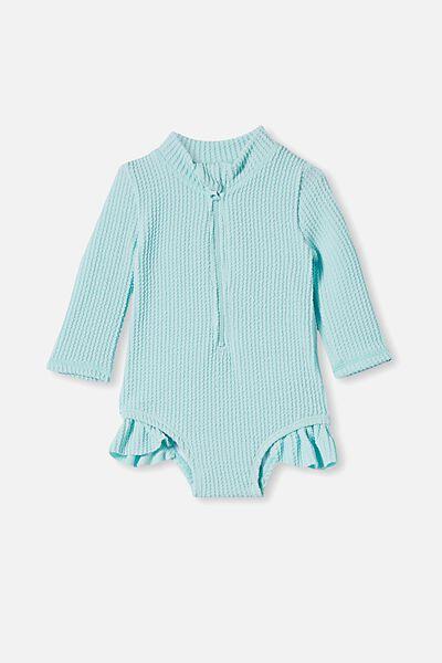 Elise Long Sleeve Swimsuit, DREAM BLUE